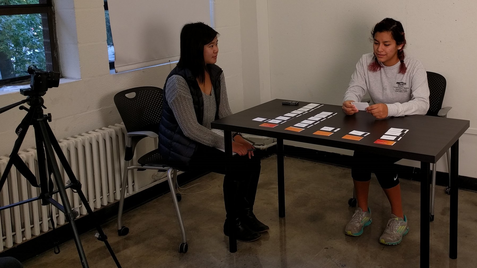 Conducting a user research interview with a participant.