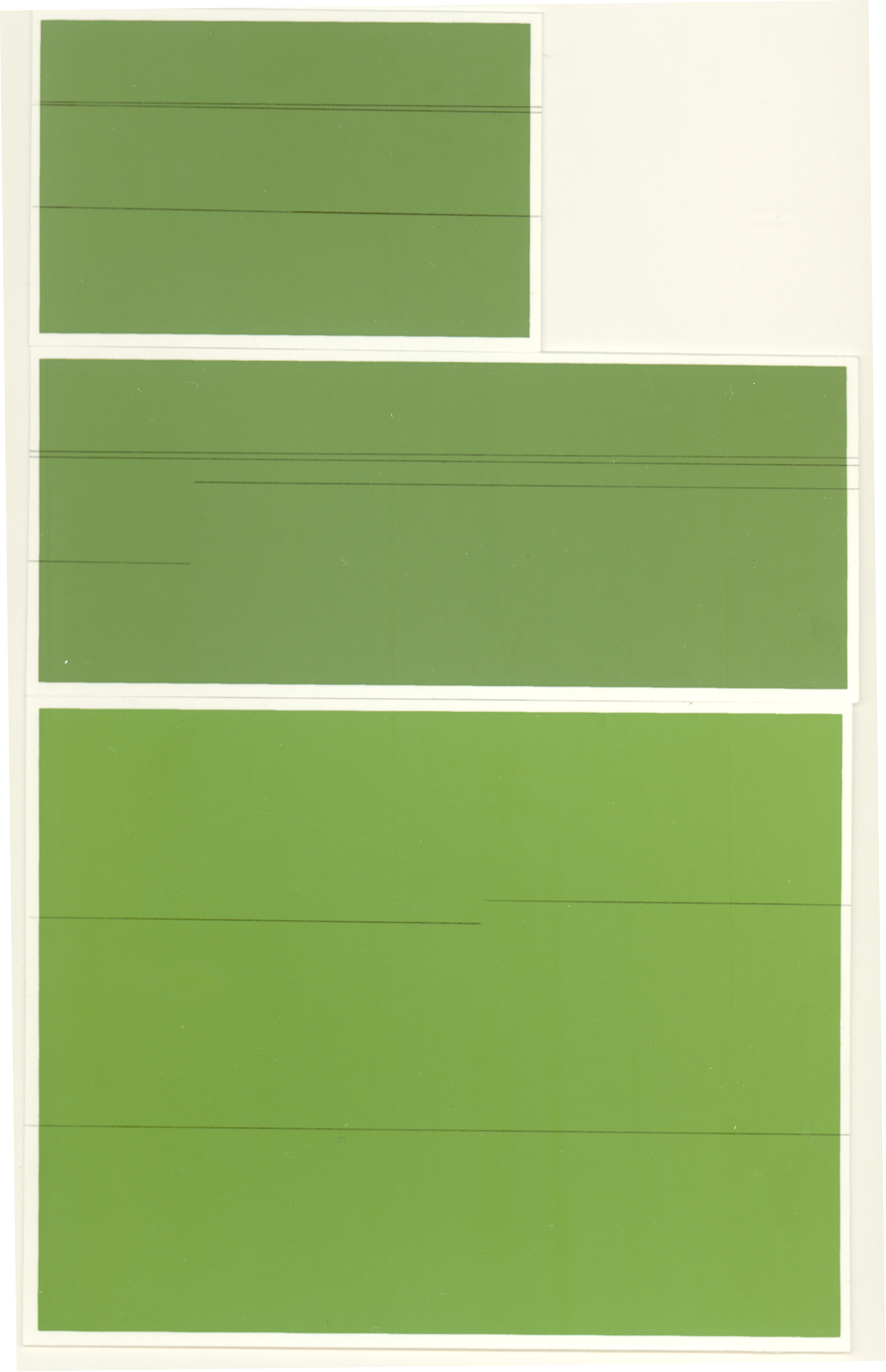 All Greens Boards and Roads, graphite transfer on screenprint, 10 x 6.5 inches