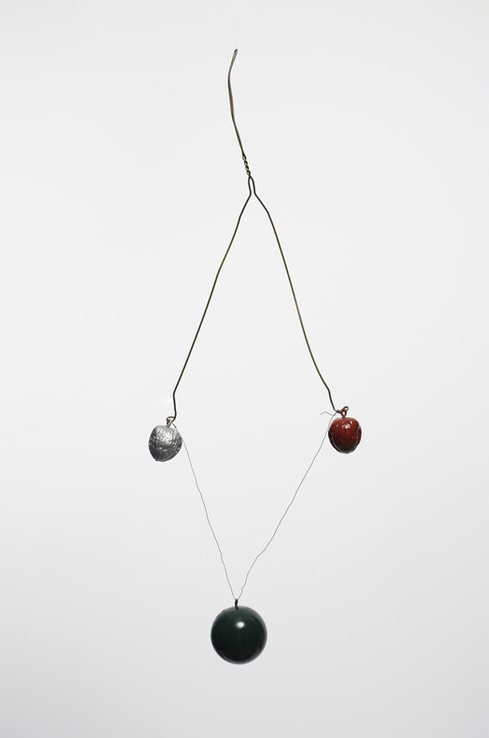 Sunday, 1968 , 2008, Wire, wood, walnuts, enamel paint, 24 x 8 x 2 inches,  Fawbush Editions , Series of 14 unique variants