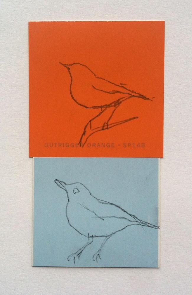 shiny orange and matte blue birds.jpg