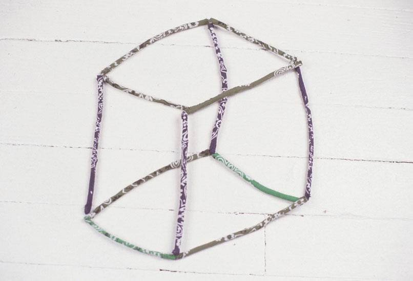 Bandana sewn over sticks