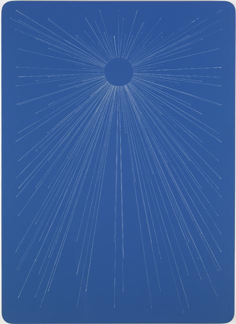 Blue Starburst Playing Card