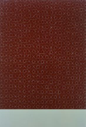 Gem-tiled Wall (Wine), Mint Floor