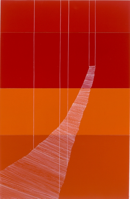 Untitled String Bridge Fuchsia & Orange