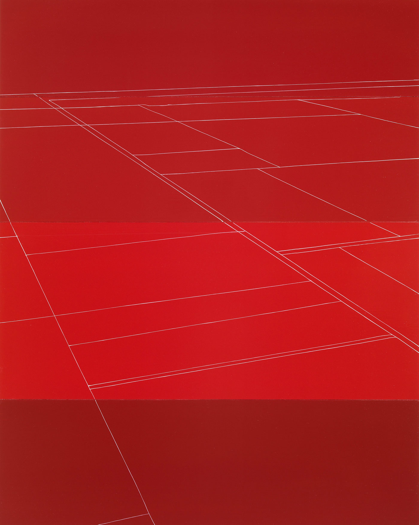 Four Reds Aerial View Clay Perspective Lines