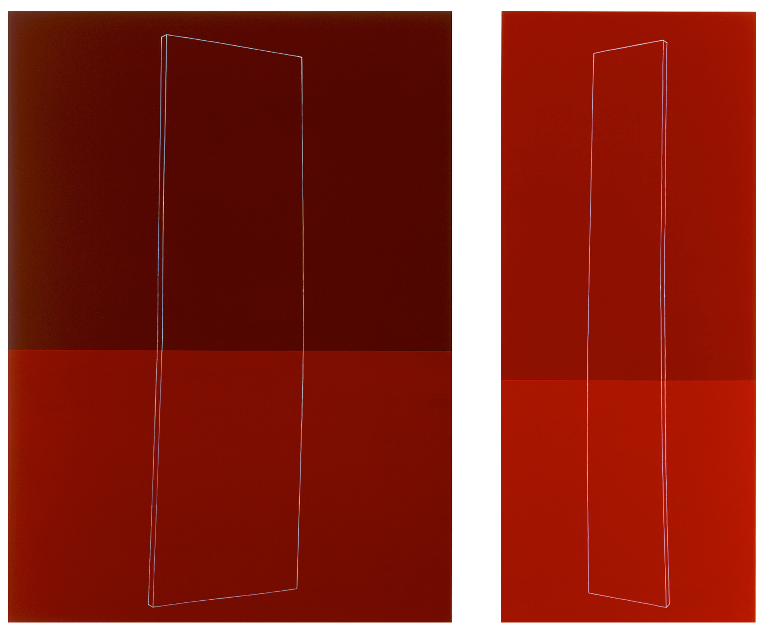 Towards each other Figure Wide and Thin Four reds