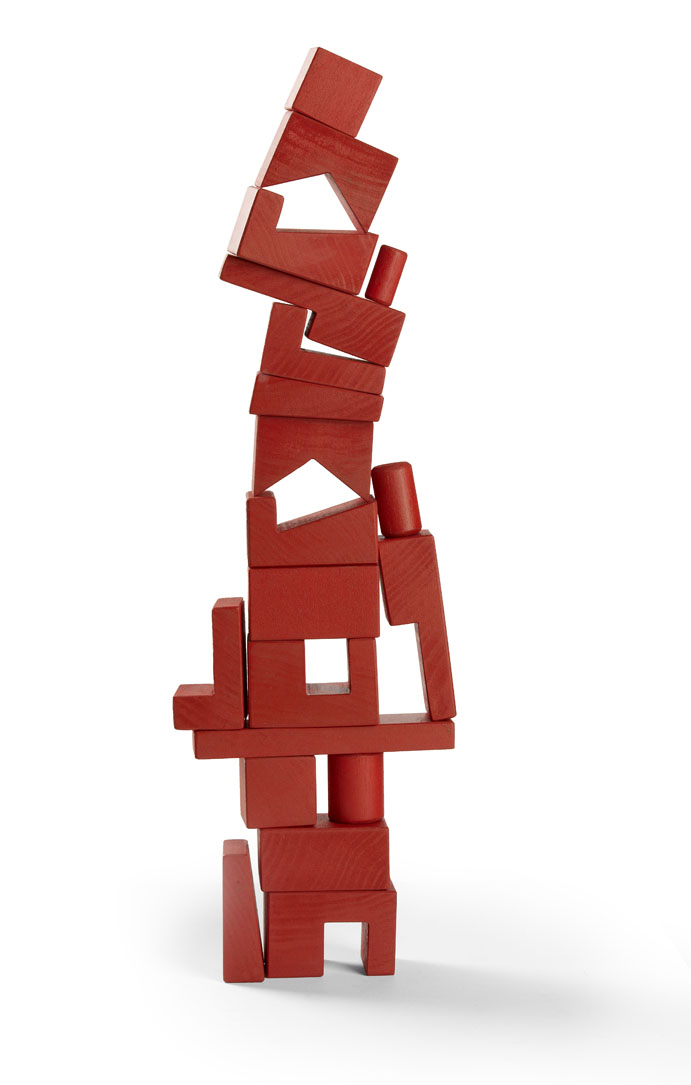 Cockeyed-optimist Stackable Blocks - Red