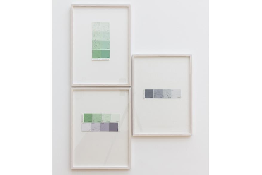 """Installation view, 2015,"""" Papier/Paper V - Zeichnung (Drawing)"""", Clement & Schneider, Bonn, Germany"""