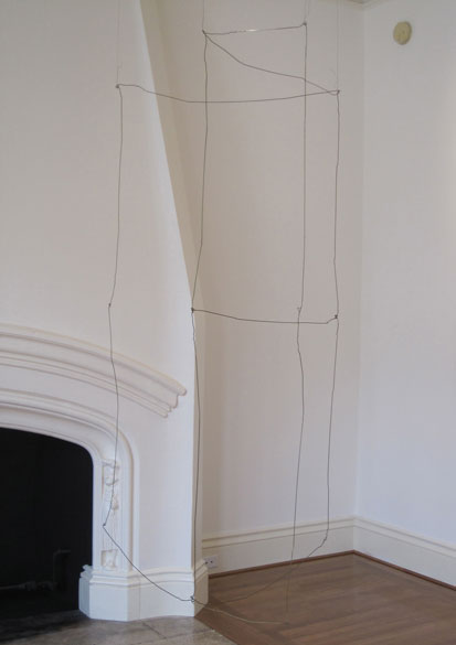 "Wire Room, 2013, coat hanger wires,""News from Biathlon""  Anthony Meier Fine Arts, San Francisco, California"