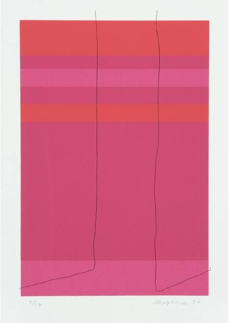Wire Porte Fenetre  screenprint, 14 3/16 x 9 7/8 inches Galerie Lelong Paris, edition of 9