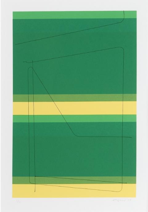 Open Train Car  screenprint, 20 7/8 x 143 13/16 inches Galerie Lelong Paris, edition of 11