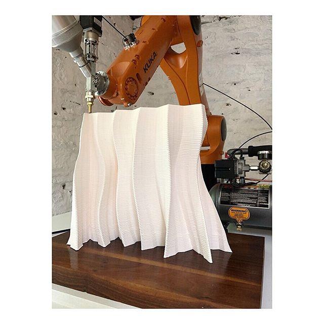 Work in progress...#sculpture #kukarobotics #kukaroboticsuk #design #nature #inspiration #ceramics #generativedesign #KUKA #industry40 #machinelearning #ai #architecture #science #porcelain #art #software #3dprinting #autodesk #wip #experiment #robotics #engineering #sustainability #clay #technology #LUTUM #craft #porcelain