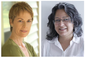 Executive Producer, Kathleen Mulligan (left) and Theatre Wallay Artistic Director, Fizza Hasan (right).