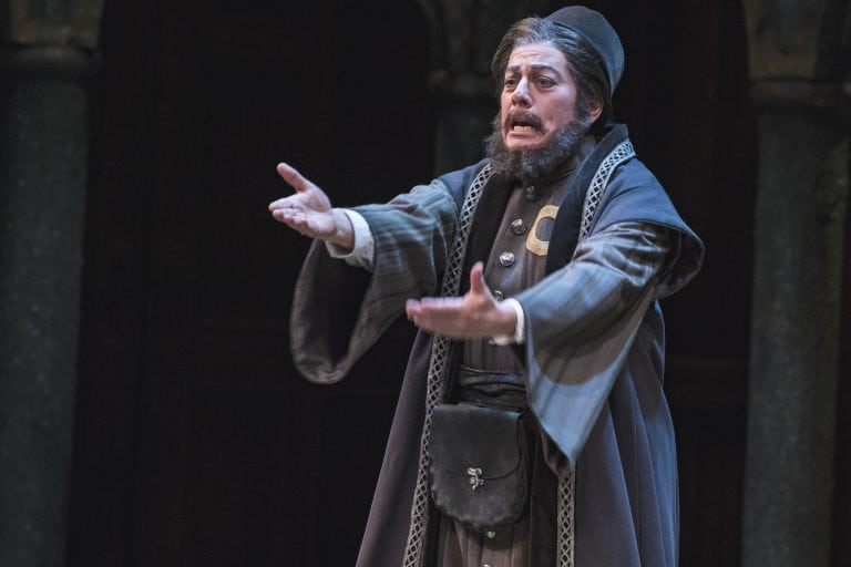 Lisa Wolpe as Shylock in the 2018 Utah Shakespeare Festival production of  The Merchant of Venice . (Photo by Karl Hugh. Copyright Utah Shakespeare Festival 2018.)