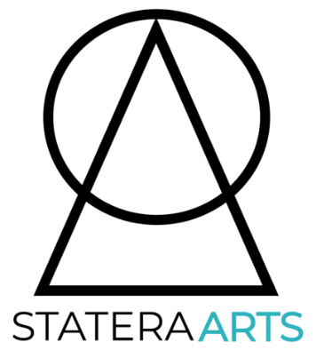 StateraArts's logo symbolizes balance in the arts.