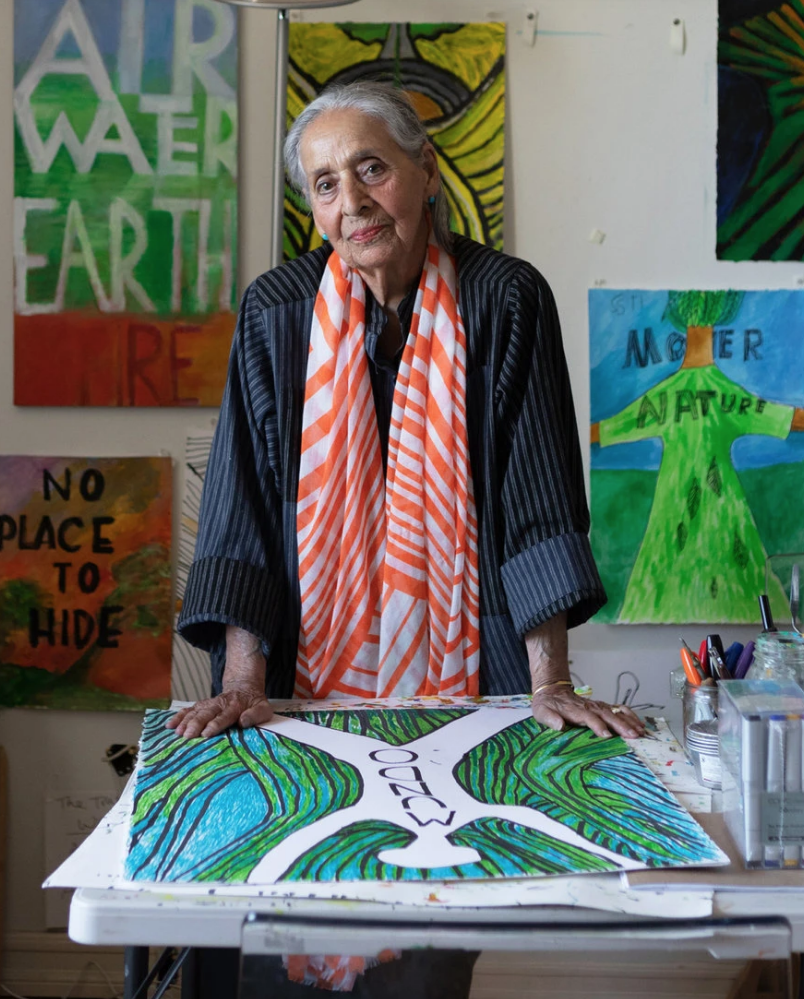 Luchita Hurtado, visual artist. (Photo by Laure Joliet)