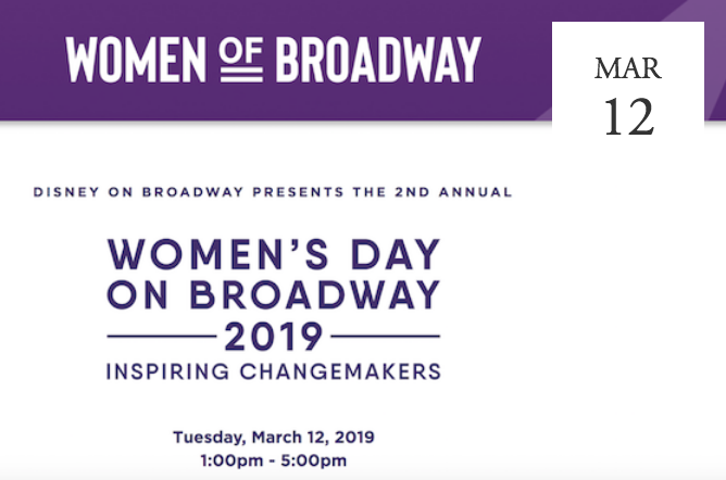 Women's Day on Broadway 2019 - New York, NY