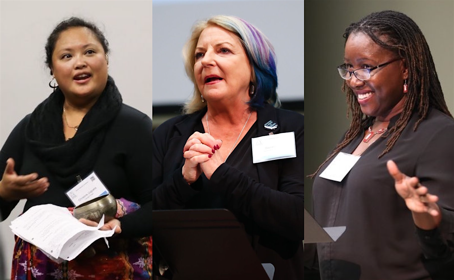 Speakers at Statera's 2018 conference: Christine Jugueta, Suzan Fete, and Nataki Garrett. Photos by Malloree Delayne Hill.