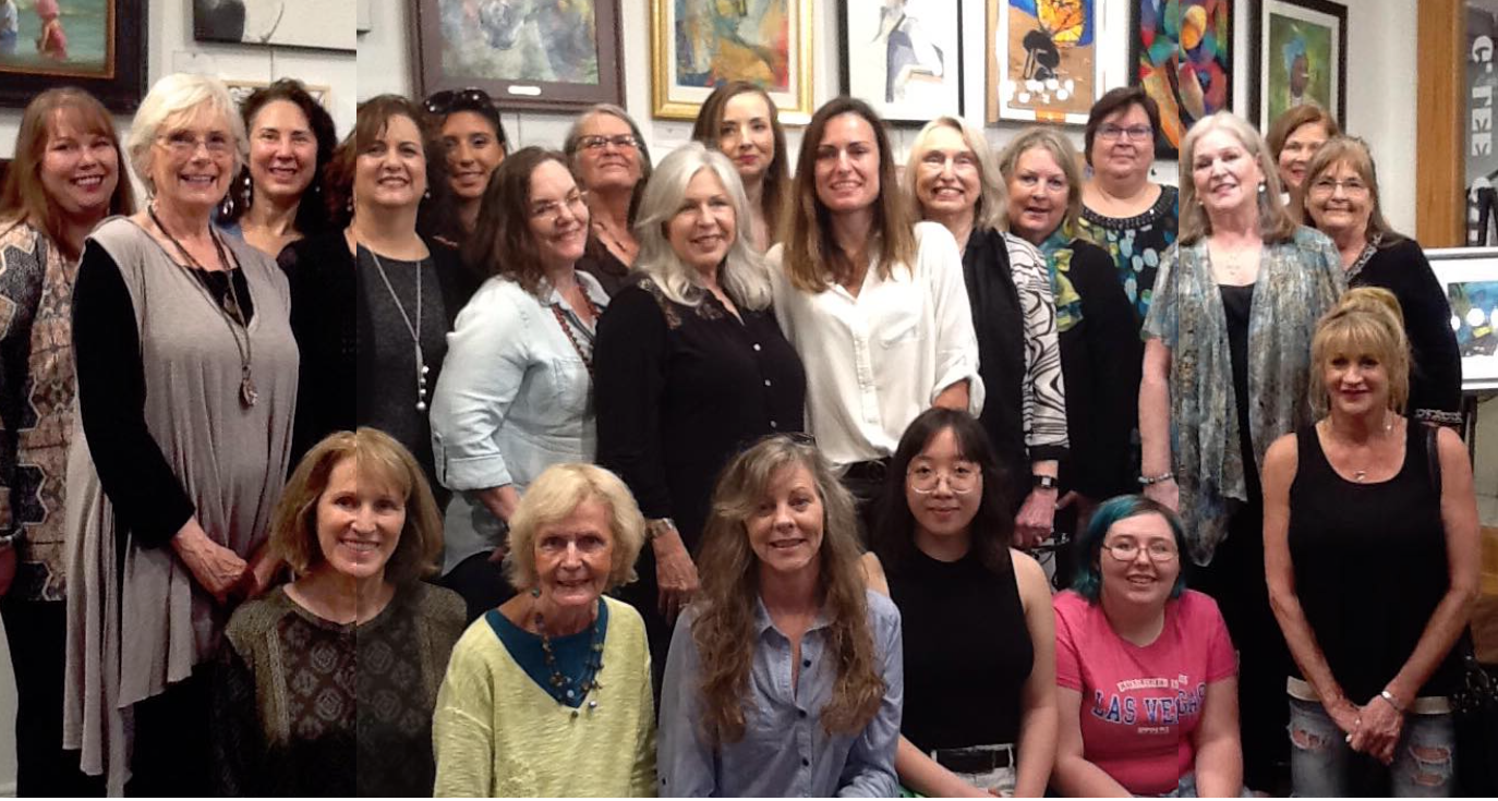 Featured artists at G Lee Gallery's SWAN Day Art Exhibit.
