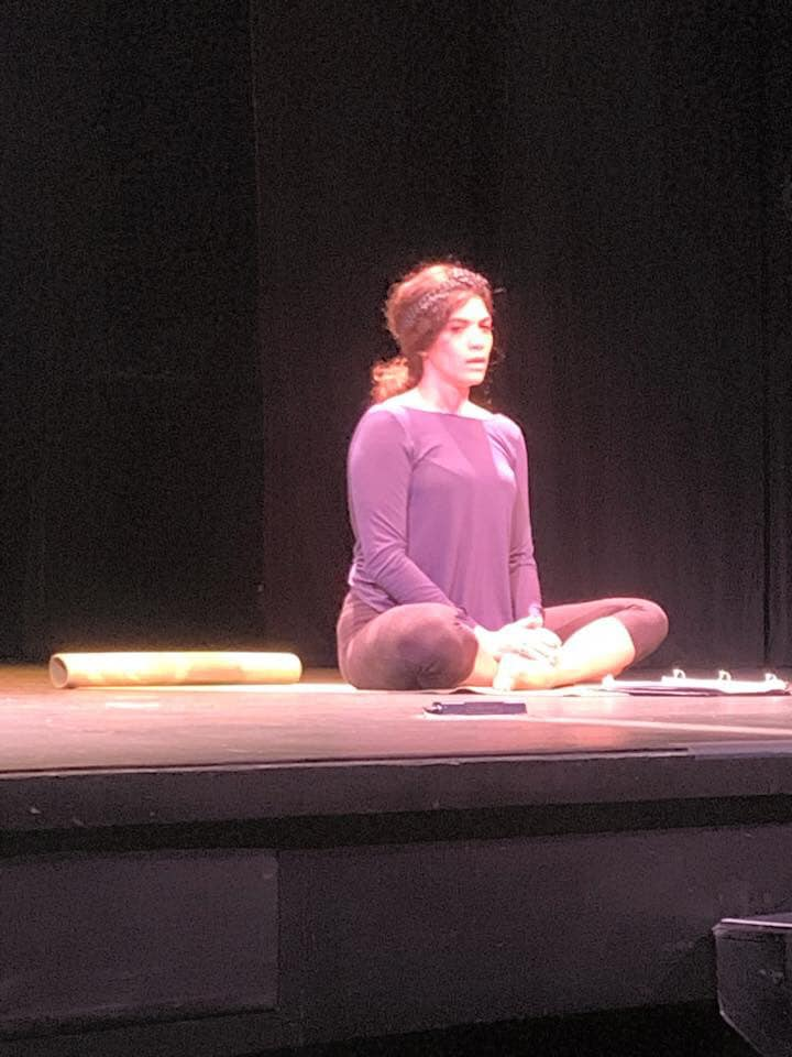 Laura Gomez during a play reading on Day 1.