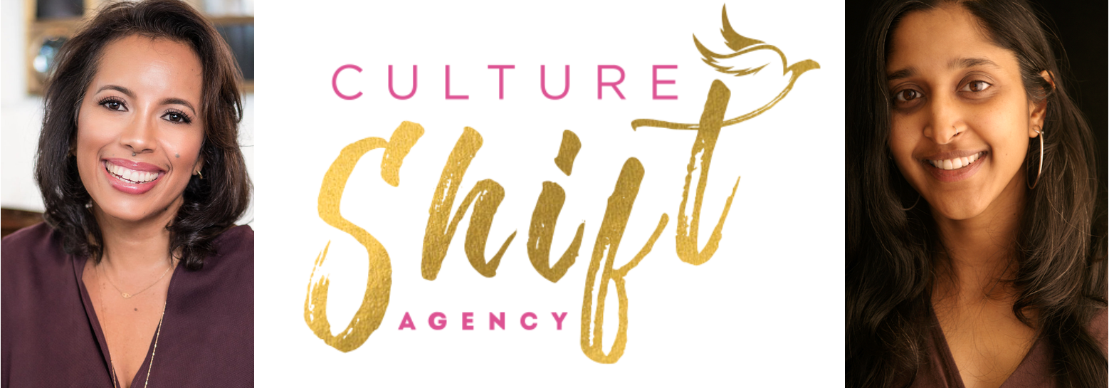 The Culture Shift Team: Marla Teyolia (left) and Kavitha Rao (right)