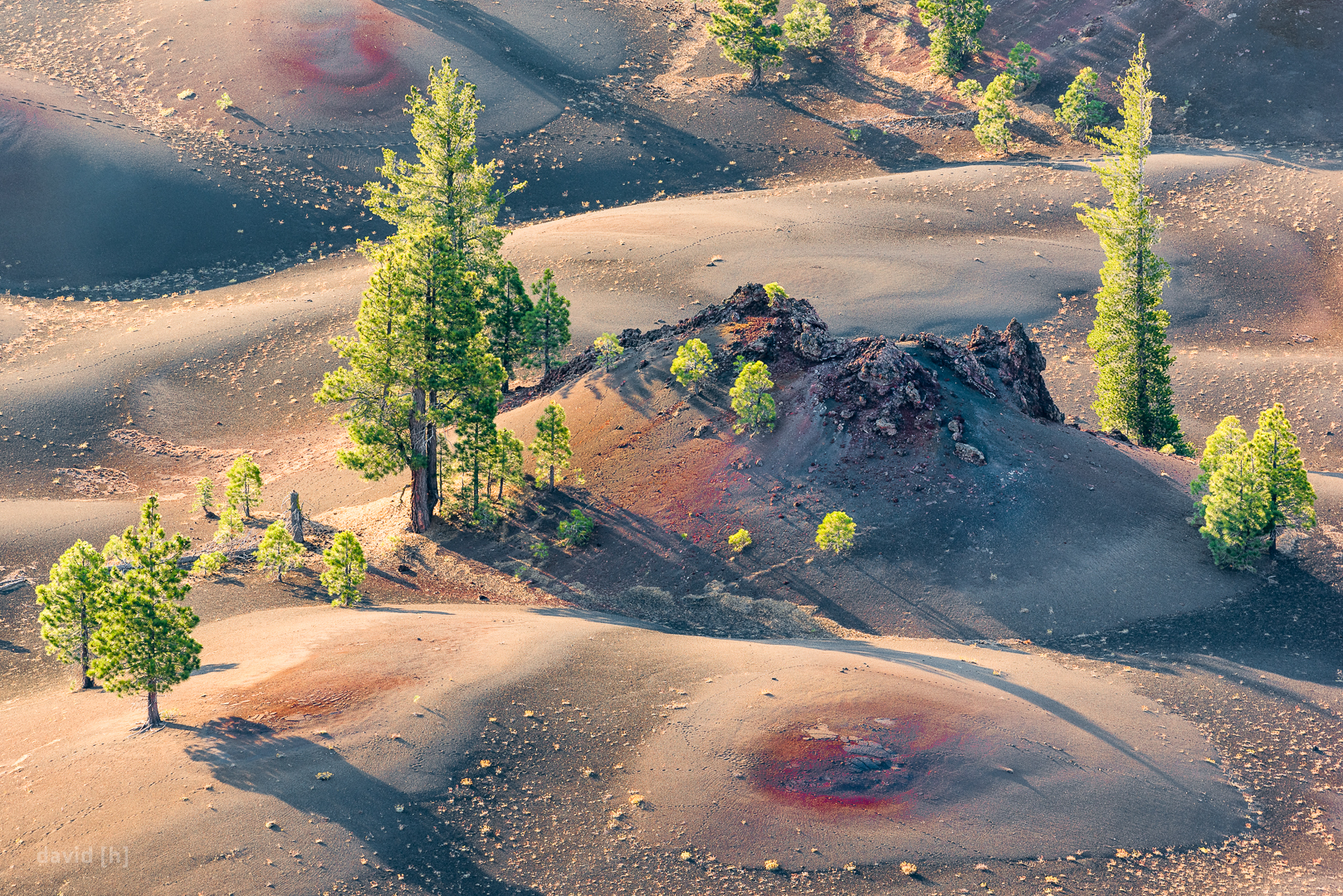 The Painted Dunes are a spectacular sight best enjoyed during the golden hours from the top of Cinder Cone.