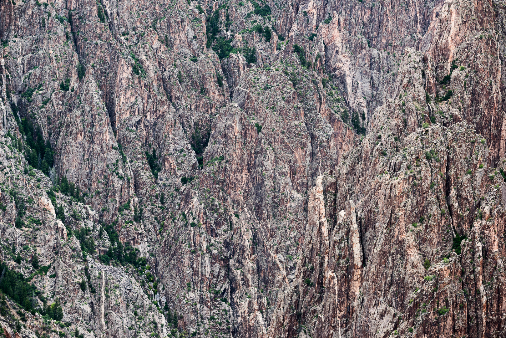 The jagged cliffs of the Black Canyon of the Gunnison.