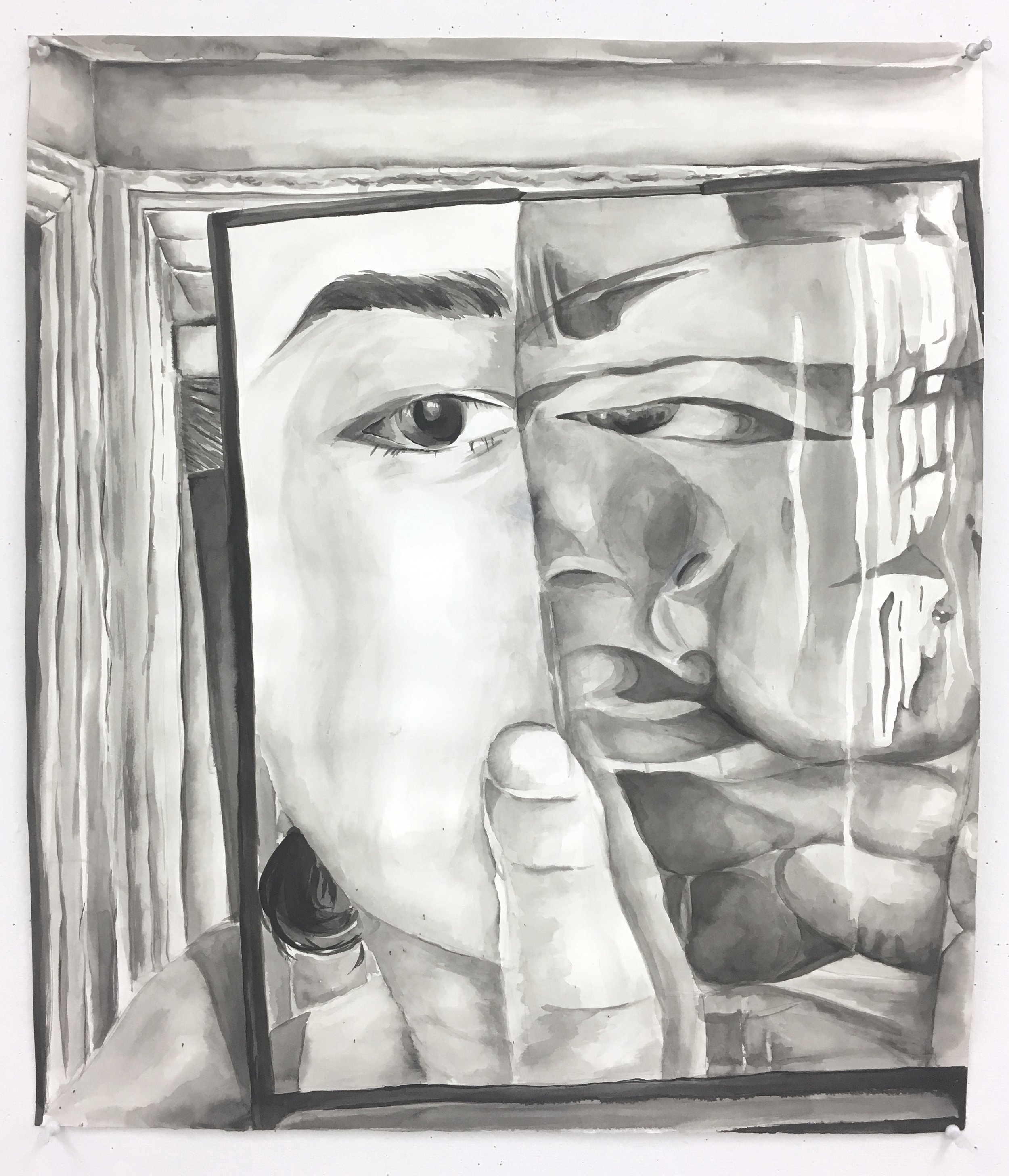 Chanry Shuai,  Self-Portait in Glass