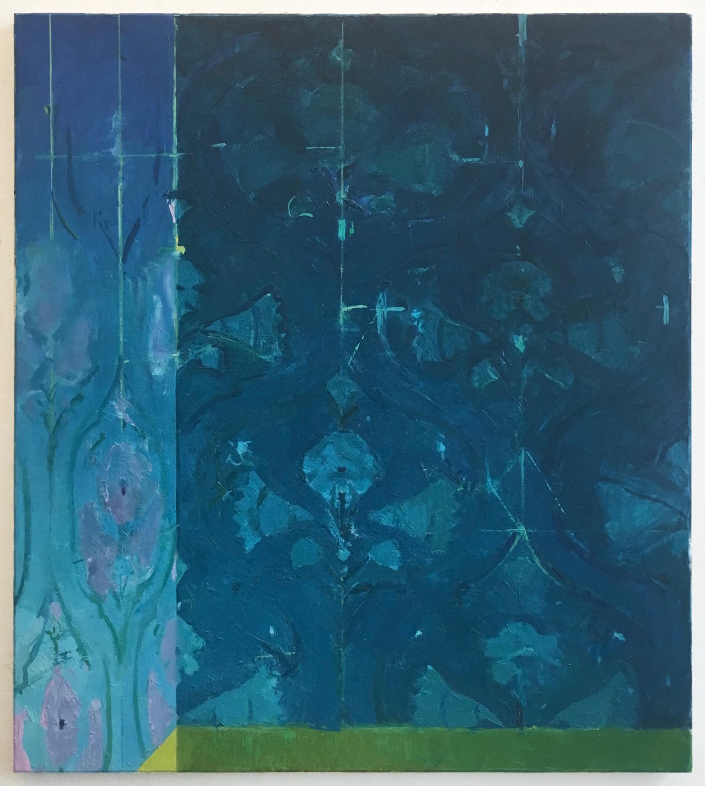 "Corner  - oil on canvas, 38"" x 34"", 2017-18"