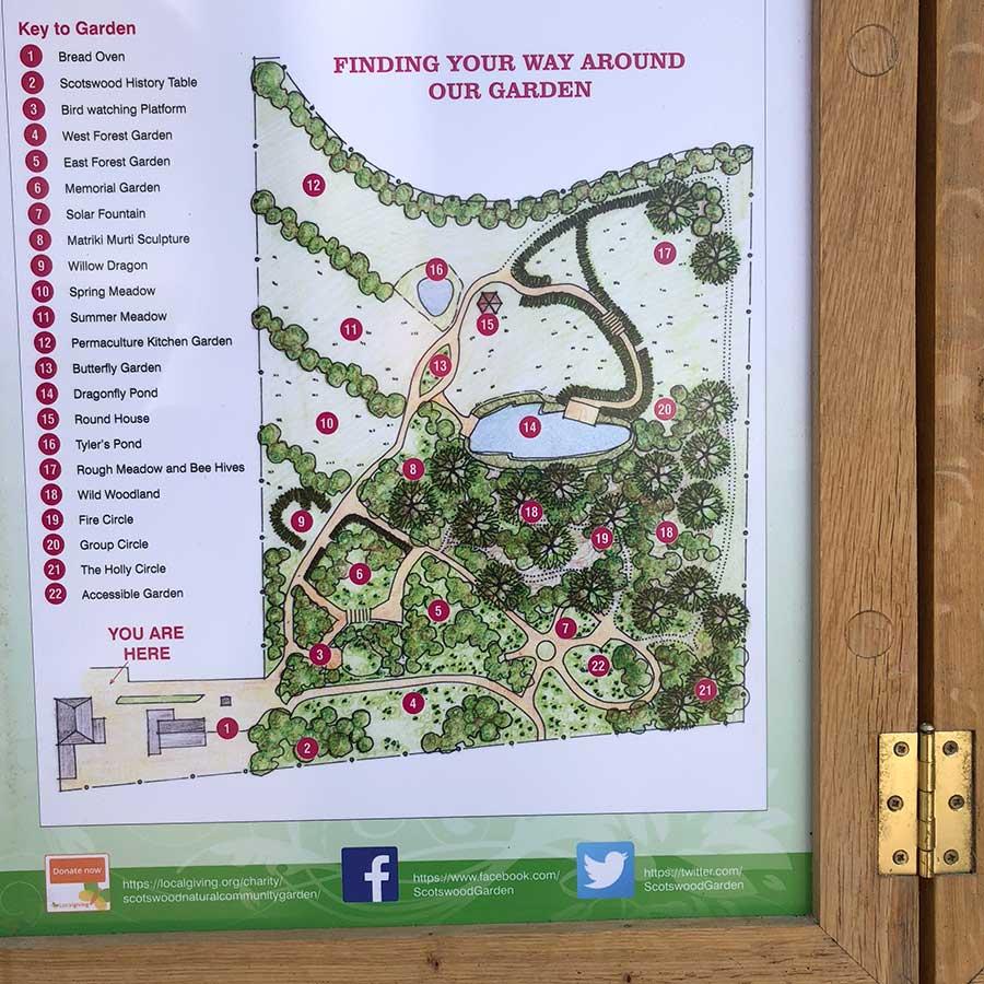 Scotswood Garden map illustration