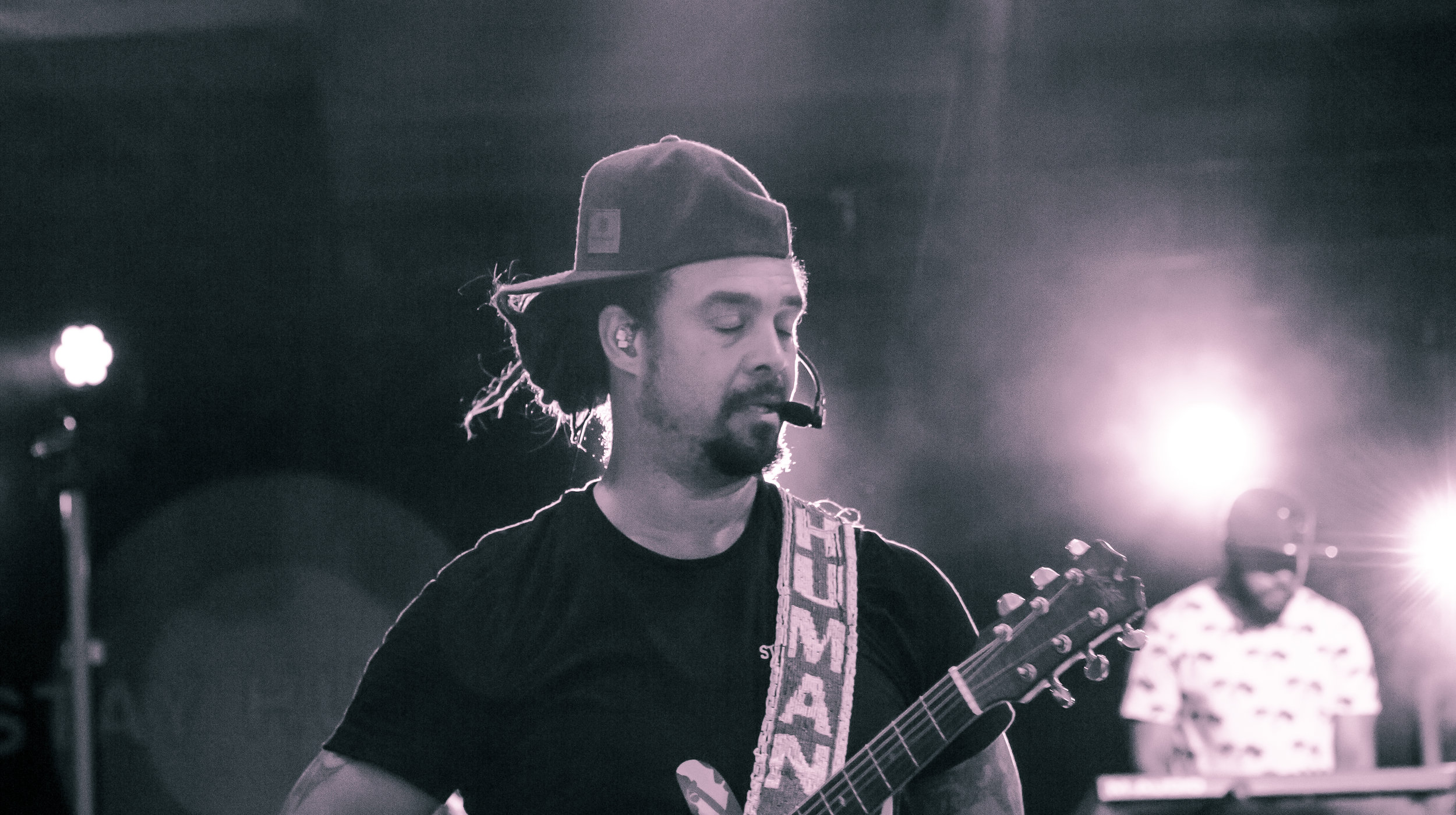 Michael Franti performs at Britt Festival, 2018, Jacksonville, Oregon.