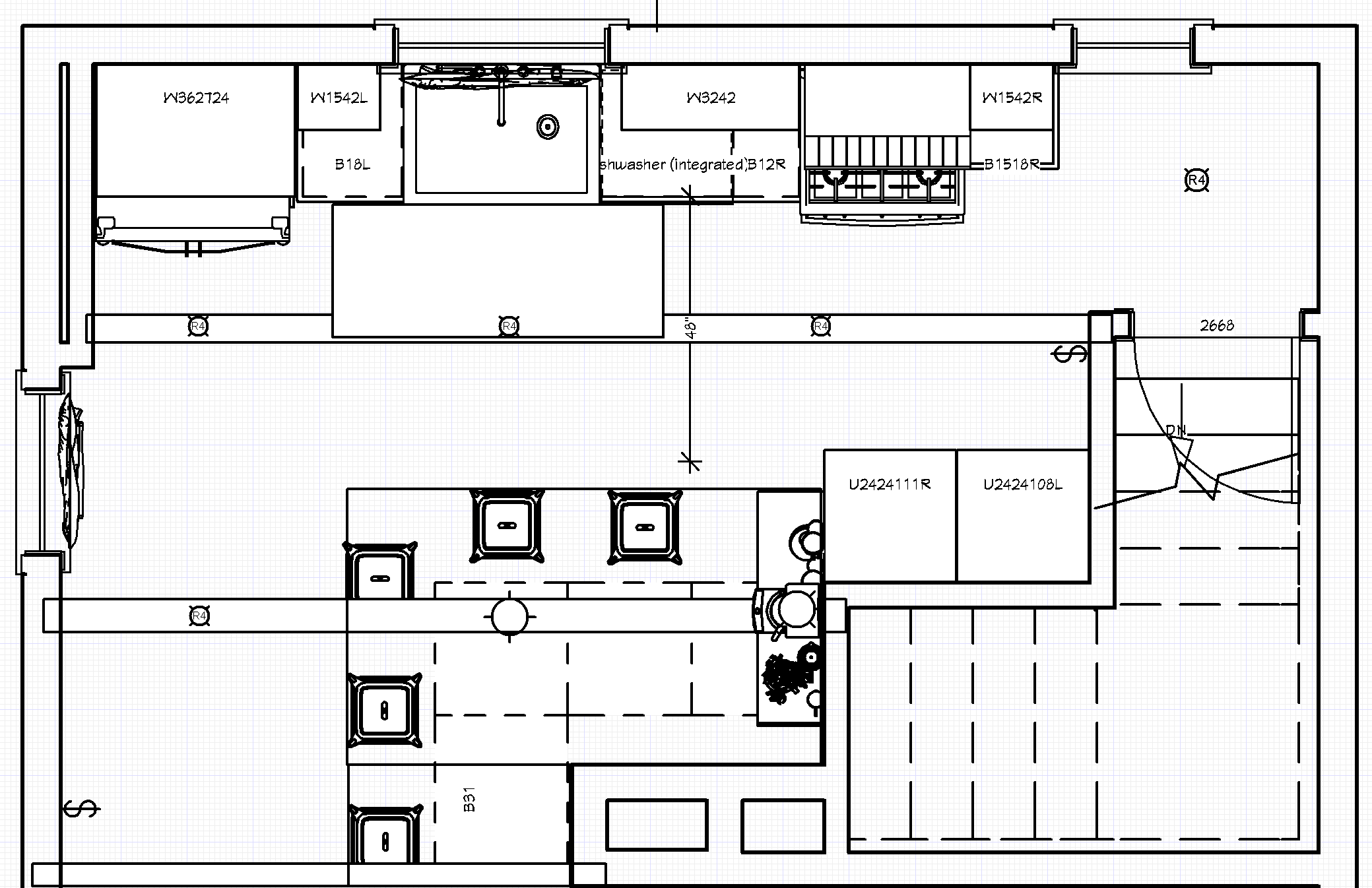 2D Floorplan Example - Kitchen Remodel