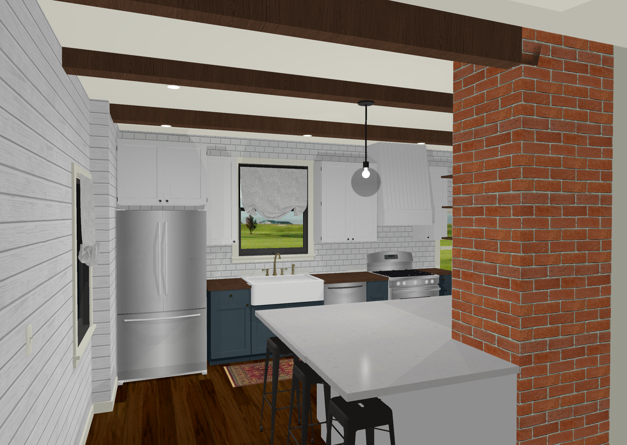 3D Floorplan Example - Kitchen Remodel