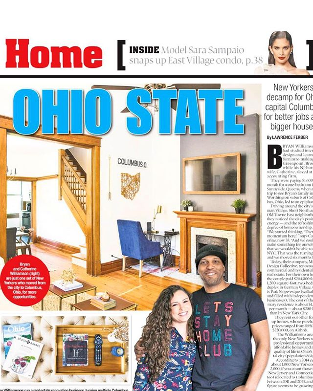Kiiiind of surreal to see ourselves in the Home section of the @nypost, along with @foxinthesnowcafe and a few other talented New Yorkers who have moved to Cbus.  Read the full article & let us know what you think — link is in our bio!! #nypost #614 #asseenincolumbus
