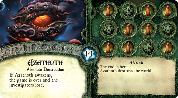 """""""Could a blind idiot god do this?!"""" (from  Elder Sign  )"""