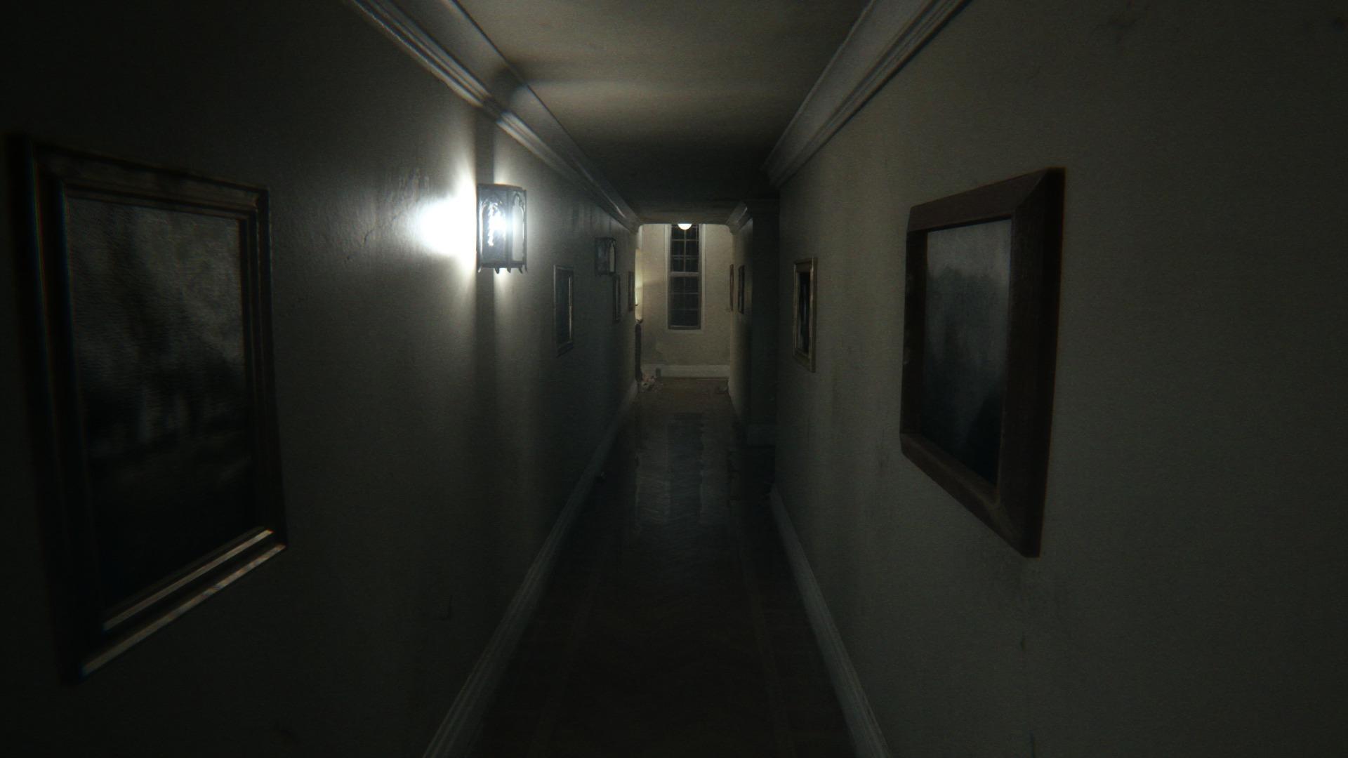 ...walk, turn, walk, open the door...