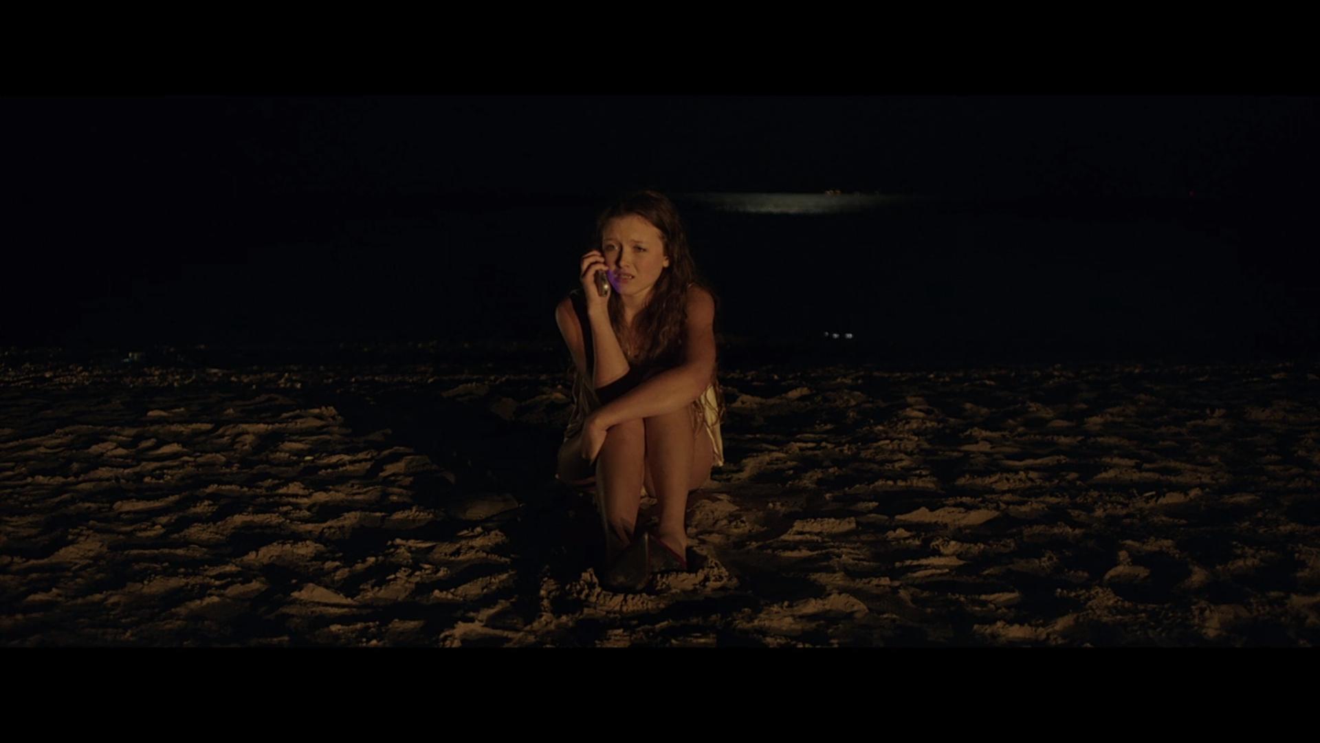 A person on a beach.