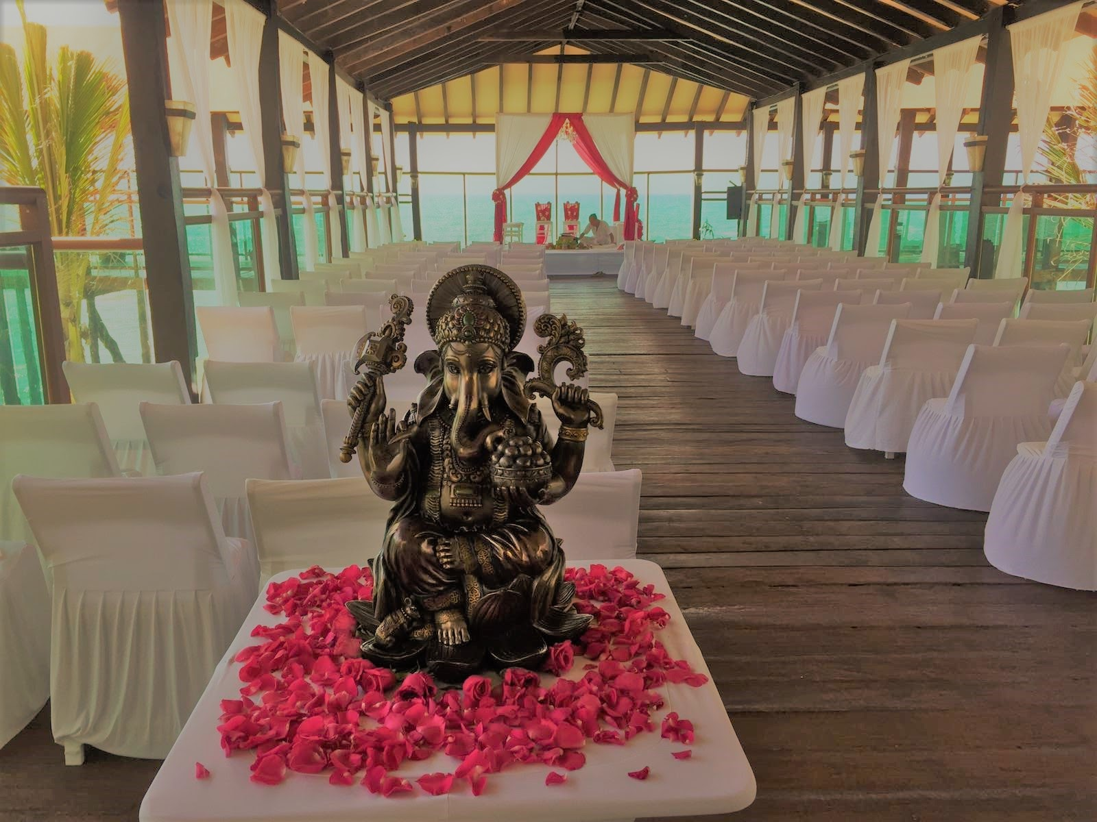 Indian ceremony with ganesha pier deck.jpg