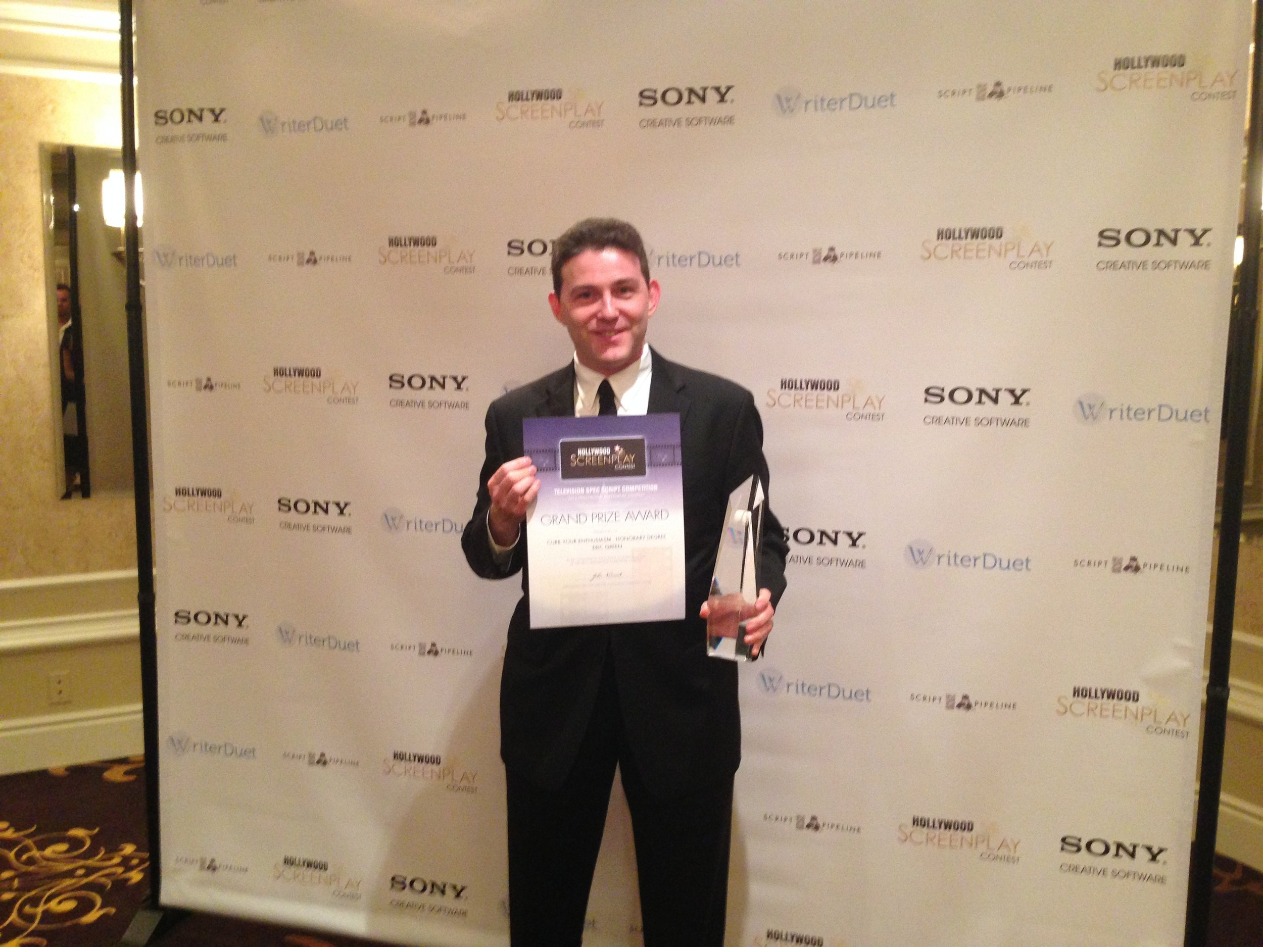 Eric Green at the 2013 Hollywood Screenplay Contest