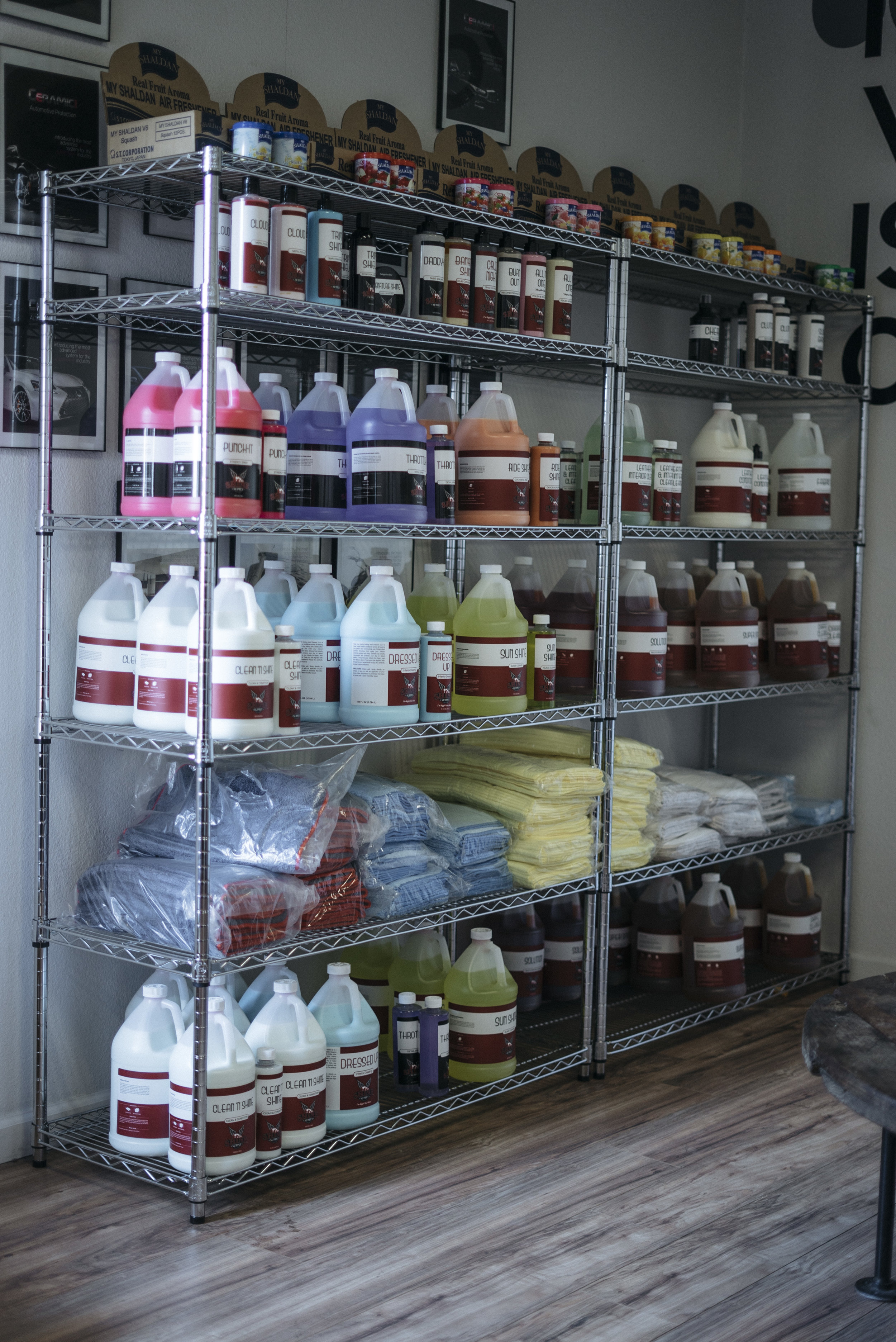 DETAILING PRODUCTS - Our long search for the auto detailing industries most reliable products has resulted in a fully stocked store of none other than Shine Supply Co's wide range of interior and exterior auto care products.
