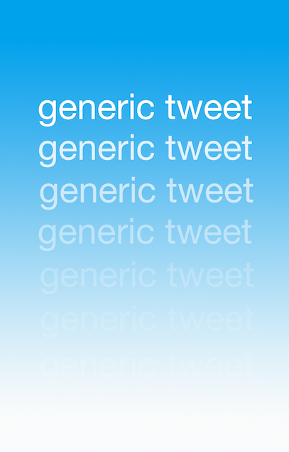 """Generic Tweet is a zine of poems constructed from an archive of tweets with the words """"generic tweet"""" collected over the course of three months in 2017."""