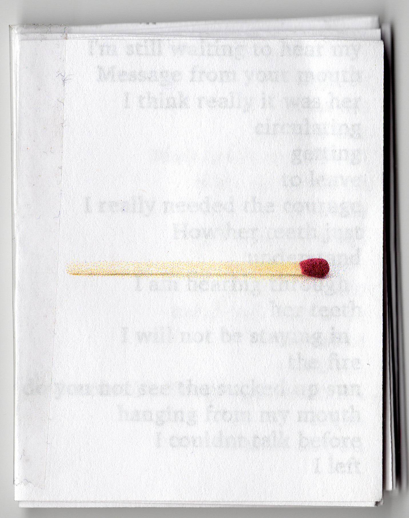 this set of matchbook zines contains a series of poems inspired by Janaka stucky's poem  the art of loss is a lost art