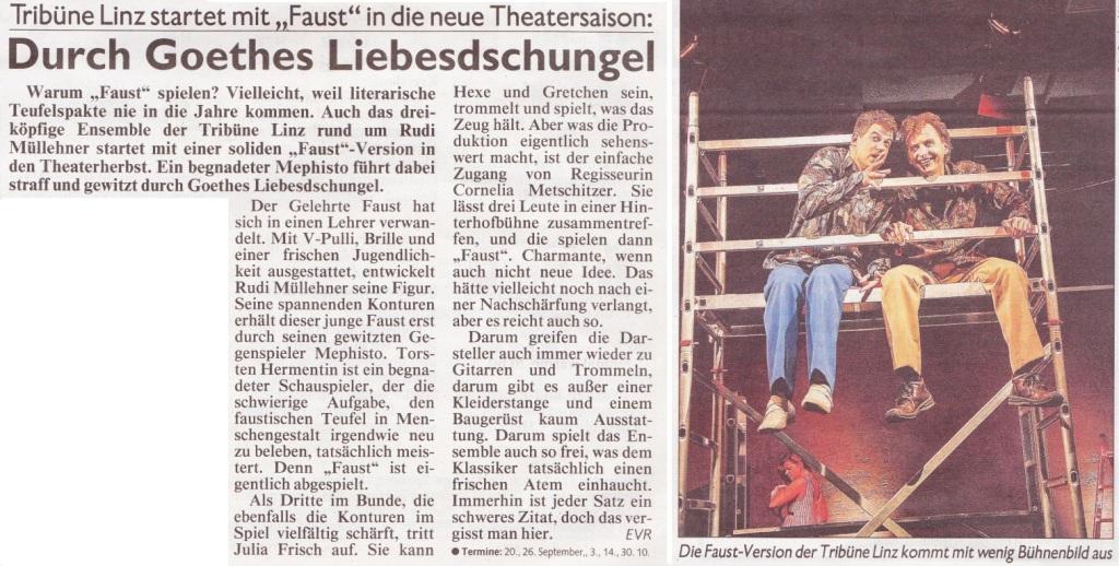 Kronen Zeitung über Faust 1