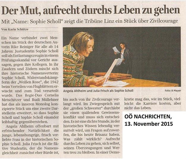 OÖN über Name: Sophie Scholl