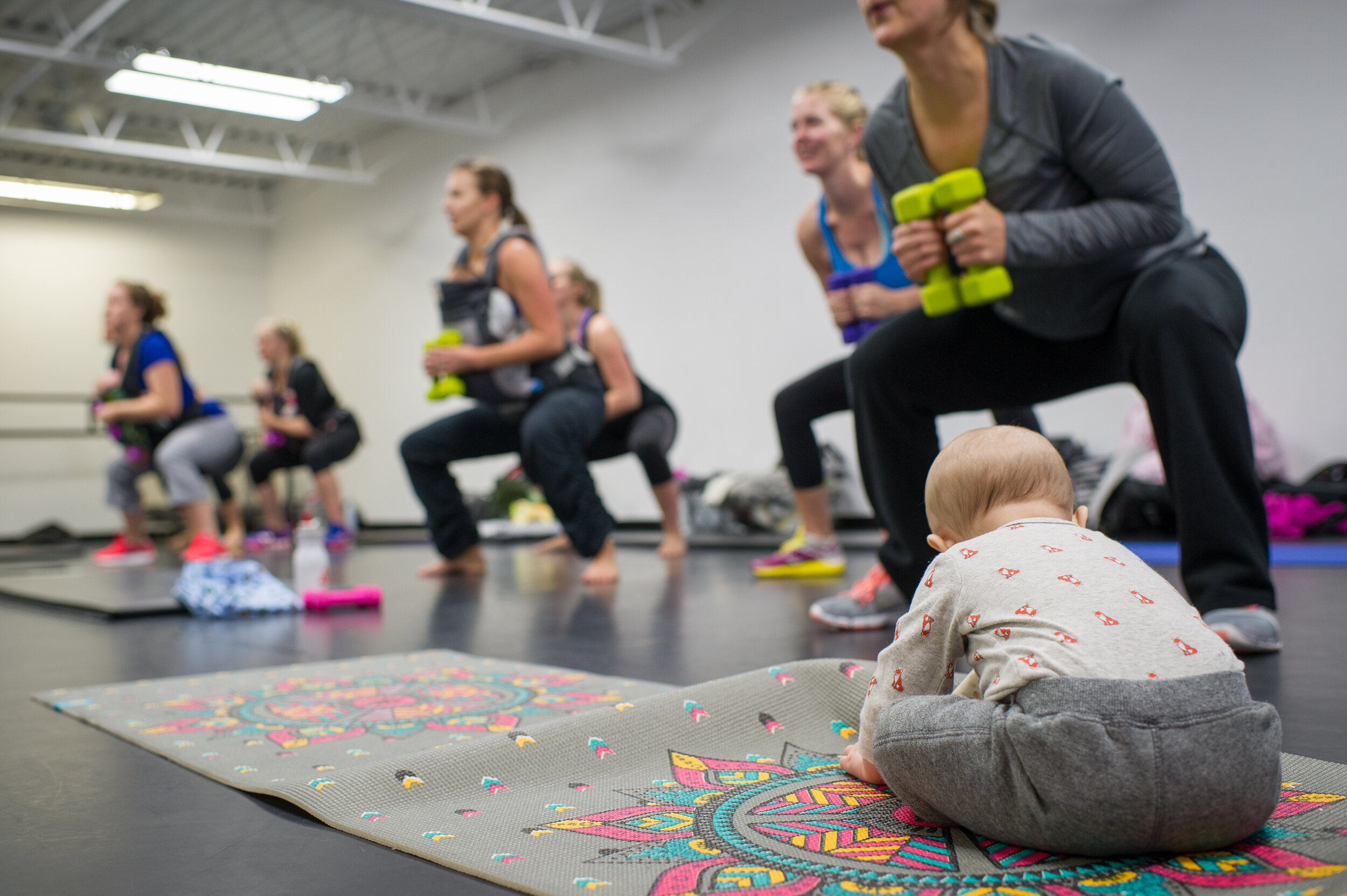 MamaFit - Bring baby to class, meet other Mom's and feel strong again postpartum. We will focus on gaining strength of core, abs, pelvic floor and overall whole body.