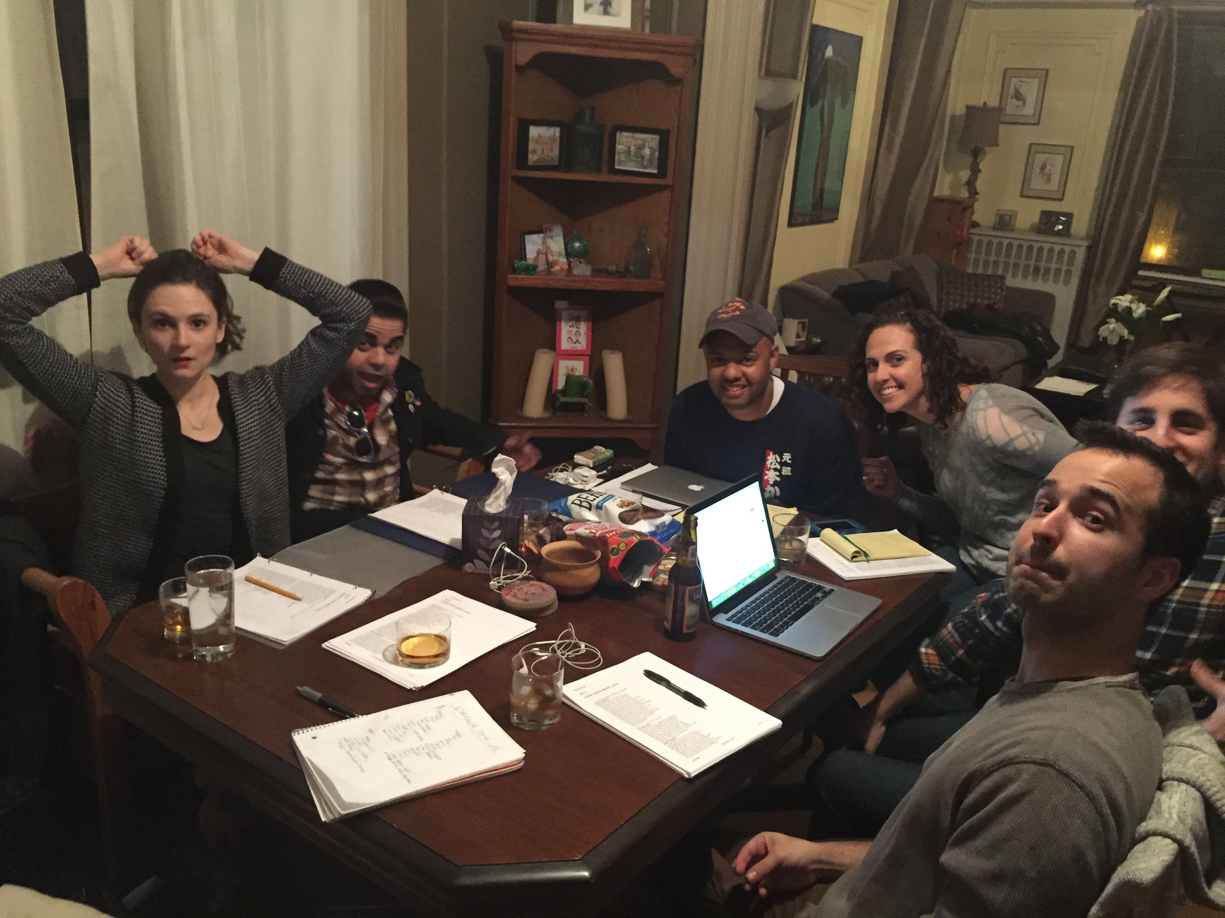 Early Table Read (of 12th Night) Around Our Dining Room Table