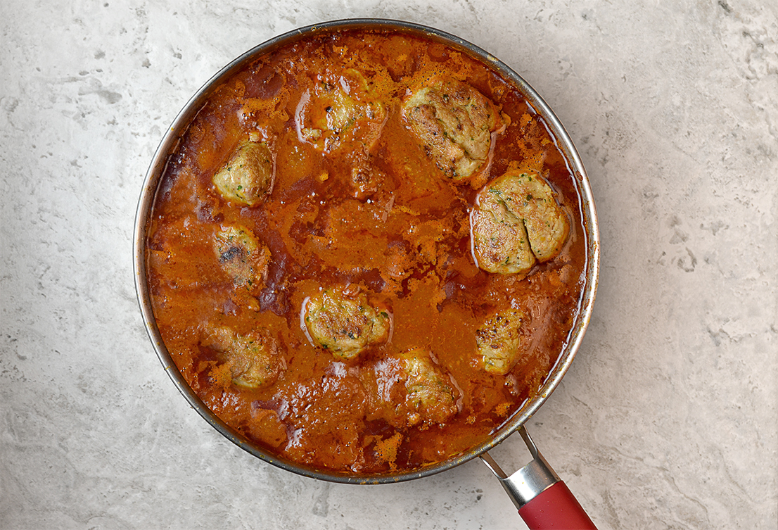 Here it is! The Seven Spice Chicken Kofta Curry