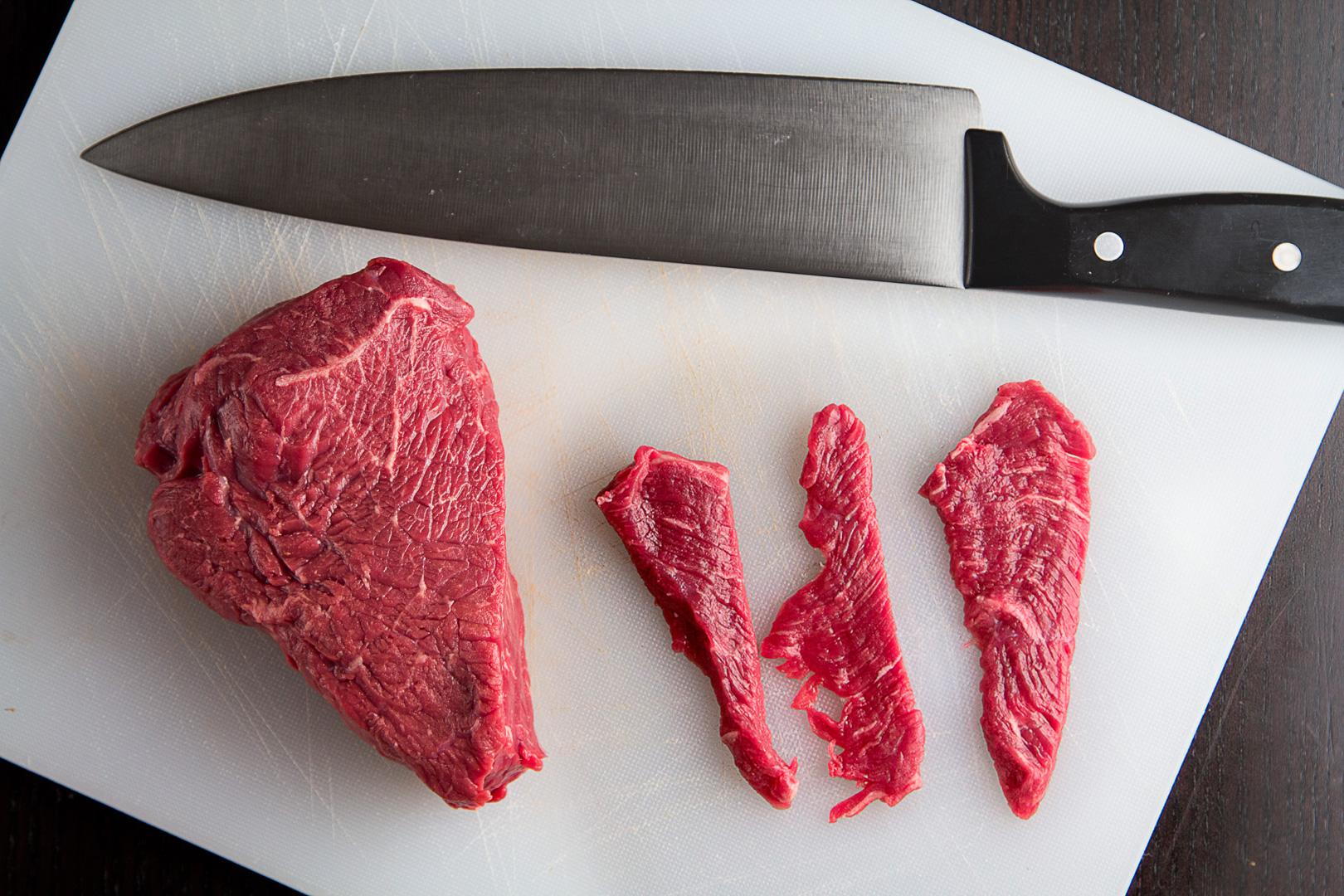 Steak cut paper thin