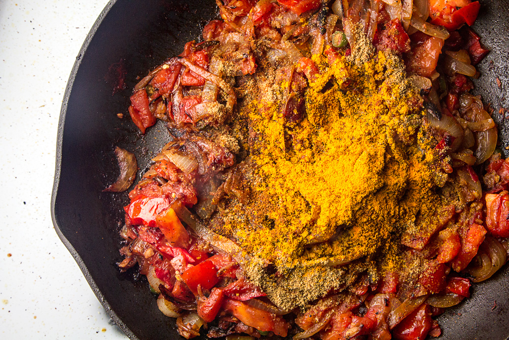 Onion Tomato Ginger base with spices