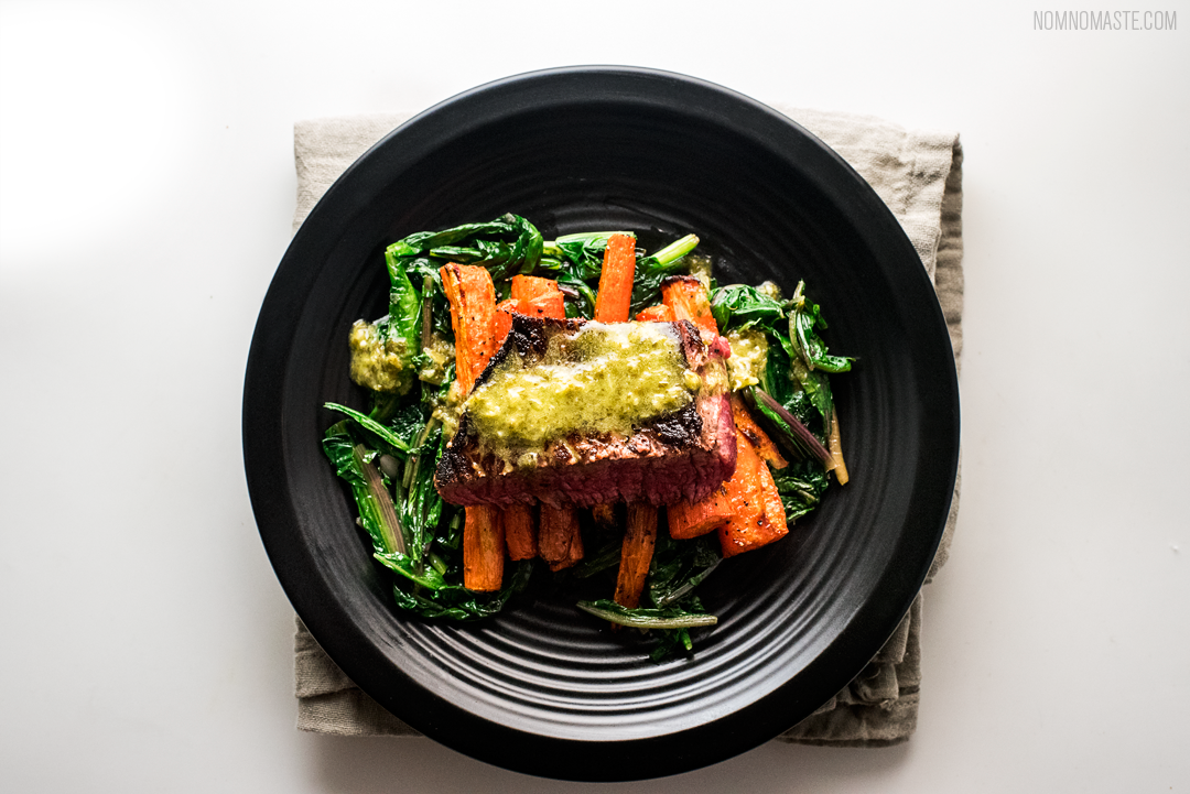Steak_Dandelion-Greens_Carrots_Chimichurri_SayNomaste_8.png